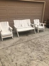 Vintage weathered 3 piece wooden patio set in Travis AFB, California