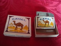 new old stock 1960's penguin japan automatic lighter no 18250 camel cigarettes in Orland Park, Illinois