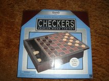 new fundex games brand checkers w premium wood storage cabinet and game board in Orland Park, Illinois