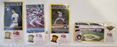 Complete PIN Set of 4 U.S. Oil Co. Promo Milwaukee Brewers  L@@K! NEW! in Brookfield, Wisconsin