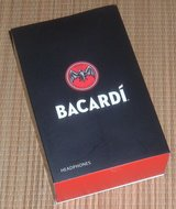 NEW Bacardi Black and Red On Ear Cushioned Foldable Stereo Headphones Headset w Volume Control M... in Morris, Illinois