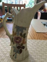 ANTIQUE PORCELAIN VICTORIA CARLSBAD AUSTRIA HAND PAINTED PITCHER in Fort Belvoir, Virginia