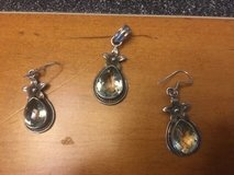 Sterling Silver Pendant and Earrings with Faceted Clear Stones in Fort Belvoir, Virginia