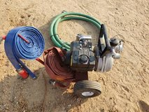 Pool pump for firefighting in Yucca Valley, California