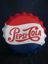 "Pepsi Cola Metal Sign Bottle Cap 11"" VINTAGE in St. Charles, Illinois"