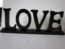"Wood ""Love"" Sign in Schaumburg, Illinois"