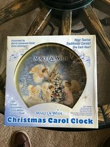 "Mark Feldstein Musical Clock 12 Hour ""Make a Wish"" Angel Christmas Carol w/ Box in Fort Belvoir, Virginia"