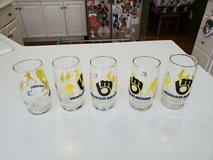Matching Set of 5 Authentic 1980's IHOP Milwaukee Brewers Promo Glasses L@@K WOW in Brookfield, Wisconsin