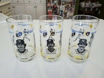 """Qty 3 Milwaukee Brewers 1982 """"American League Champions"""" Glasses McDonalds L@@K in Brookfield, Wisconsin"""
