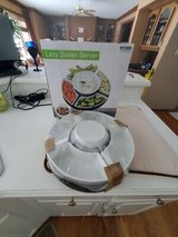 KITCHEN Keepers Rotating LAZY SUSAN SERVER with 5 White Porcelain Dishes - New In Box in Brookfield, Wisconsin