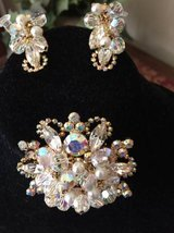 Reduced .... Vintage Swarovski ? Crystal Pin and Earring Set in Naperville, Illinois