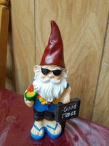 """New Resin 9"""" Decorative Whimsical Garden Gnome! So Cute!! """"GOOD TIMES"""" in Bellaire, Texas"""