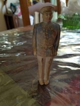 """Vintage Small Figurine - Military Man in Uniform! 4 1/2"""" t x 1 1/2"""" w! RARE in Bellaire, Texas"""