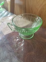 Vintage Green Vaseline Glass coffee cup! There is some scratching on the bottom of the cup and o... in Bellaire, Texas