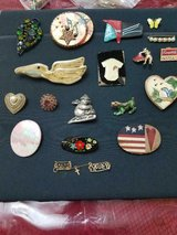 Lot of 18 Assorted Vintage Brooches / Pins! Bullfighter, Dog, Stork, Campbell's, etc. in Bellaire, Texas