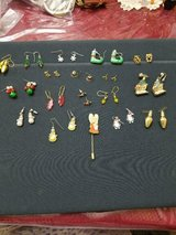 Vintage Mixed Lot of 17 Small Pierced Christmas Earrings + Free Gift (Angel Stick Pin! in Bellaire, Texas