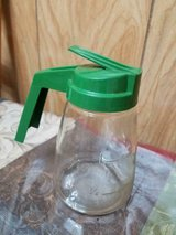 Vintage Retro GEMCO Glass Syrup Dispenser w/ Plastic Green Lid & Handle in Bellaire, Texas