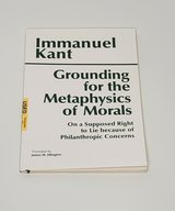 HACKETT CLASSICS SER.: GROUNDING FOR THE METAPHYSICS OF MORALAS: WITH A SUPPOSED in Glendale Heights, Illinois
