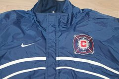 Chicago Fire Stadium Nike Jacket from Inaugural Season, Large in Plainfield, Illinois