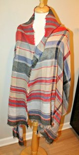 Lightweight Plaid Oversized Scarf/Shawl 27x74 inches in Chicago, Illinois