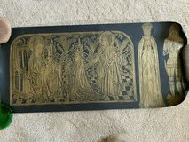 Brass Rubbings, Knight, Lady in Waiting, Bishop Jean Avantage 15th century in Rolla, Missouri