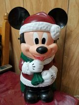 Disney Parks Mickey Mouse Santa Strapped Plastic Container / Bucket! in Bellaire, Texas