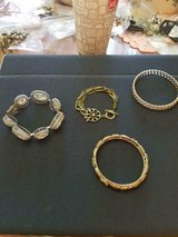 Mixed Lot of 4 Pretty and Unique Bracelets with Rhinestones! Very Nice in Bellaire, Texas