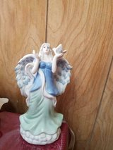 """New Pretty Ceramic Blue and Green Angel Figurine! 14"""" in Bellaire, Texas"""