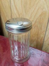 Vintage Glass ANCHOR HOCKING Sugar Dispenser Shaker! Stainless Steel Lid! in Bellaire, Texas