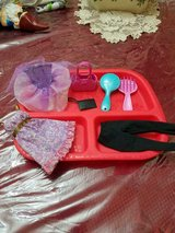 Mattel Barbie Doll Accessories ie clothes, brush, purse, etc.  (tray not included) in Kingwood, Texas