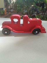 """Homemade Red Wooden 10"""" Car! in Bellaire, Texas"""