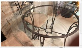 Glass / Wrought Iron Table and 4 chairs in Naperville, Illinois