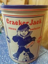 Vintage 1990 Limited Edition Cracker Jack Tin 11 Oz.  Empty Can Only! in Bellaire, Texas