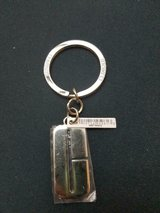 New CLINIQUE Silver Tone Engraved Key Ring! in Bellaire, Texas