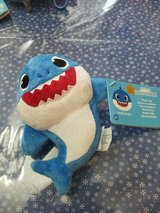 Blue Baby Shark 6 Inch Plush Toy with Plastic Clip! So CUTE!! New with Tags in Bellaire, Texas