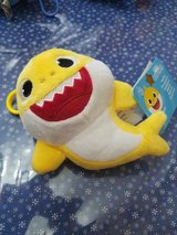 Yellow Baby Shark 6 Inch Plush Toy with Plastic Clip! So CUTE!! in Bellaire, Texas