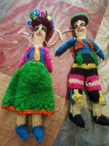 """Vintage Handwoven Tropical Island Boy and Girl Dolls! 2pc Very Unique! 7"""" in Bellaire, Texas"""