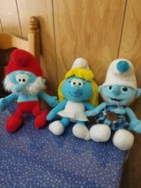 The Smurf Family Plush Toy Dolls: Papa, Smurfette, and Baby Smurf! 3pcs in Bellaire, Texas