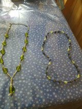 Mixed Lot of 2 Glass Green Stone Necklaces! Grey Necklace has Hematite beads! in Bellaire, Texas