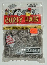 NEW Vintage 1990 One & Only Creation Curly Hair Stormy Grey Maxi-Curl Doll Craft in Joliet, Illinois