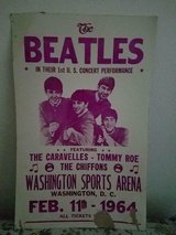 """The BEATLES Reprint Promo Poster First Concert in US Washington DC 1964  22""""; x 14""""; in Bellaire, Texas"""