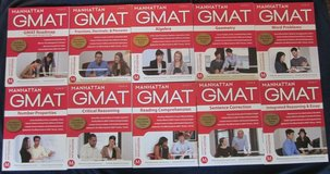 Manhattan GMAT 5th Fifth Edition Complete Strategy Guide Set of 10 0-9 EXC in Glendale Heights, Illinois