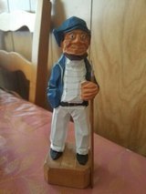"""Vintage Nautical Hand Carved Wood Sailor With Harpoon. Measures approximately 6"""" tall. in Spring, Texas"""