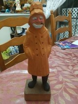 """Nautical Wood Carved Seaman w/Yellow Raincoat & Cigar  Approximately 12""""; Tall. in Spring, Texas"""