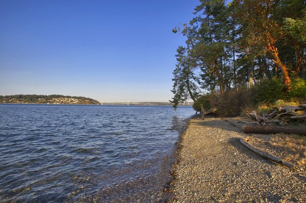 WATERFRONT BUILDING LOT ON PUGET SOUND in REmilitary