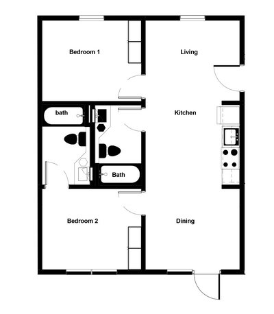 Updated 2 Bedroom Apartment in REmilitary