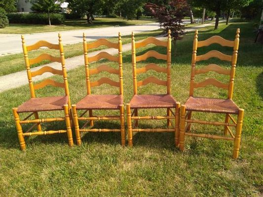 Four Ladder Back Shaker Chairs In Lockport