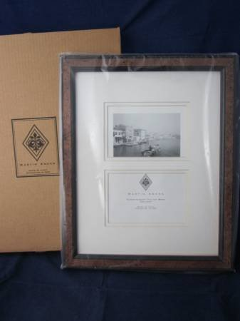 MARTIN ABORN Handfinished Wood Double Picture Frame 11 x 14 Photo ...