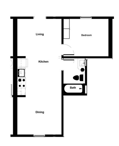 Modern 1 Bedroom APT w/ Refrigerated A/C! in REmilitary