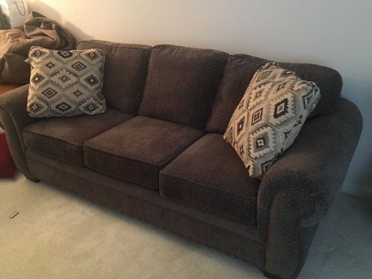 Cambridge Casual style sofa and easy chair with nail head ...